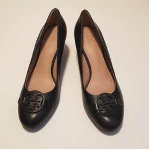 Tory Burch Miller Wedge Black Size 8